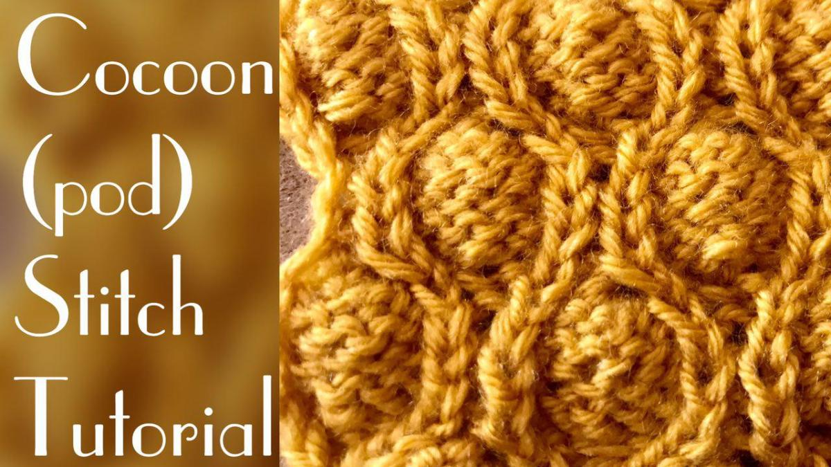 Cocoon stitch (pod stitch tutorial) - stitch 37