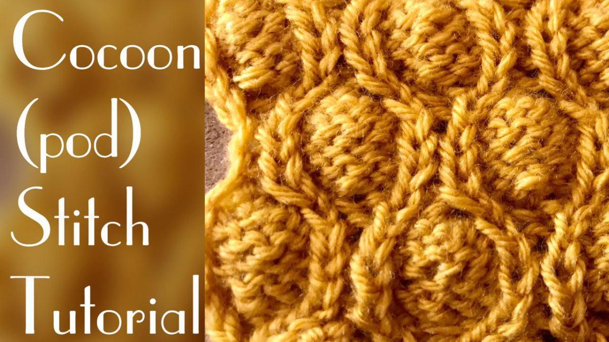 Cocoon stitch (pod stitch tutorial) - stitch 37