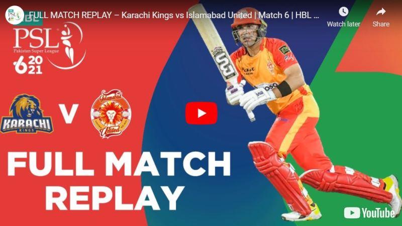 Islamabad United vs Karachi Kings Full Match Highglights PSL 6