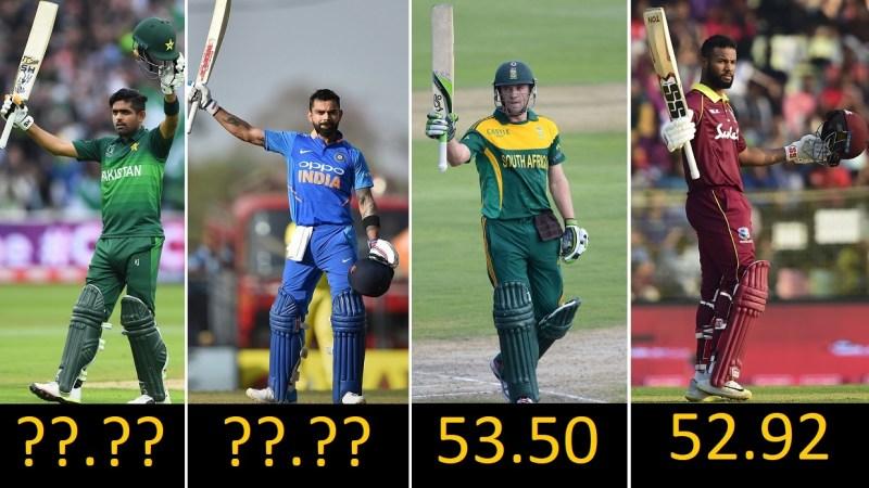 Top 10 Highest Batting Averages in ODI