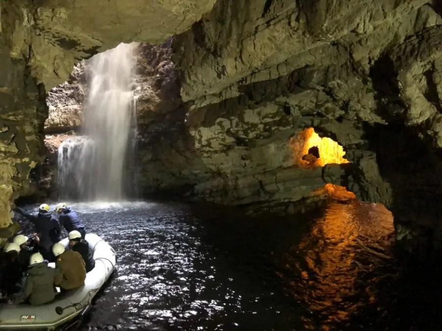Smoo Cave in Scotland