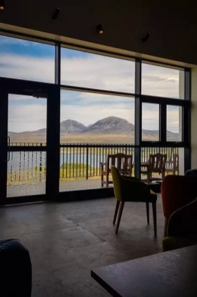 The view from Ardnahoe Distillery over to the Paps of Jura