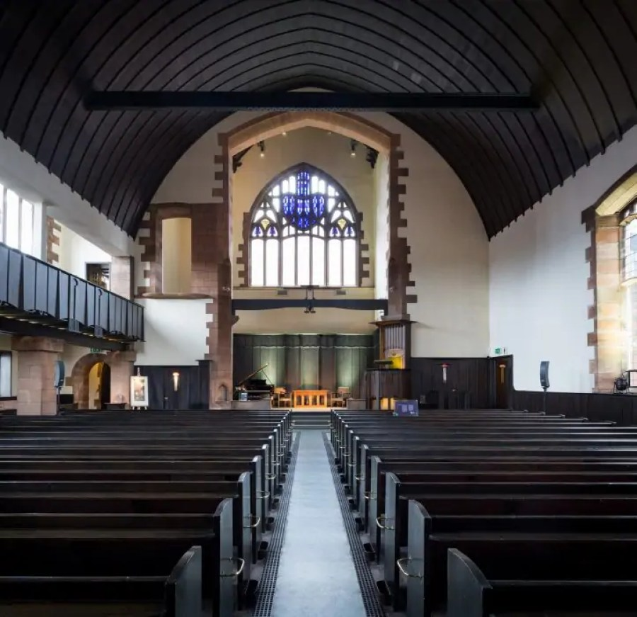 Interior of the Mackintosh Church, Queen's Cross in Glasgow.