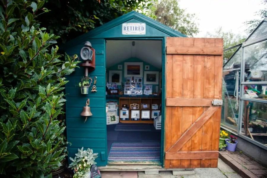The green garden gallery of artist Wendy Crichton.