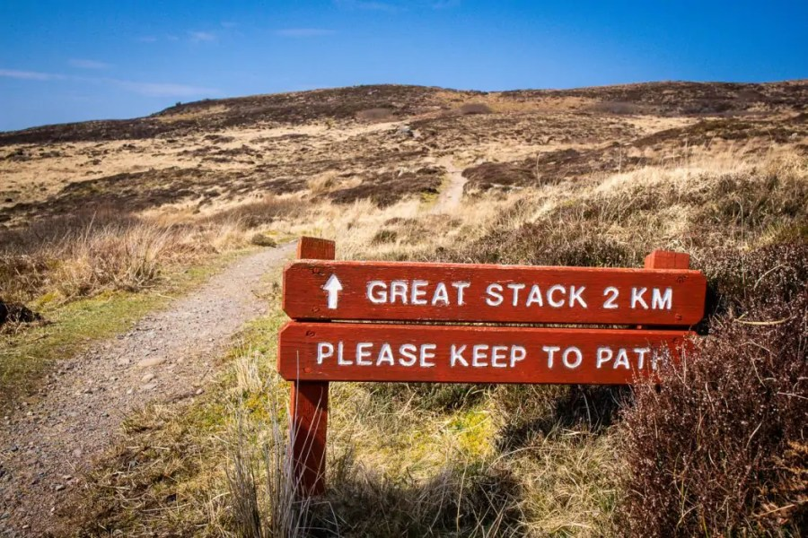 Path signposted on Handa Island