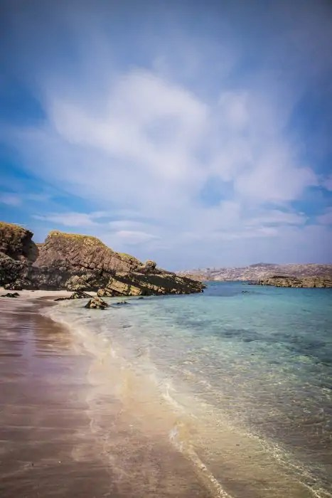 Beach on Handa Island Scotland.