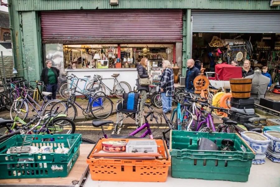 The eclectic Barras market in the east end of Glasgow.
