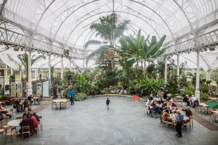 The glasshouse at the People's Palace museum at Glasgow Green.