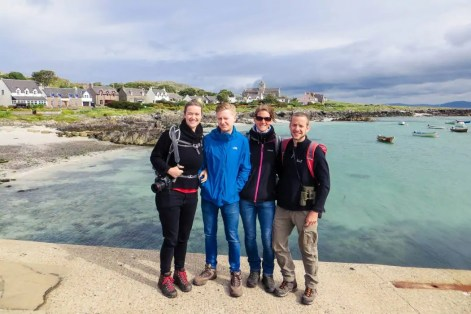 4 adults on the Isle of Iona