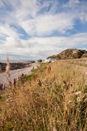 Hiking on the coast of Aberdeenshire.