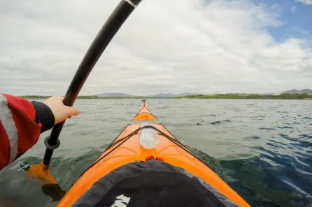 Kayaking in Scotland: Paddling near Oban.