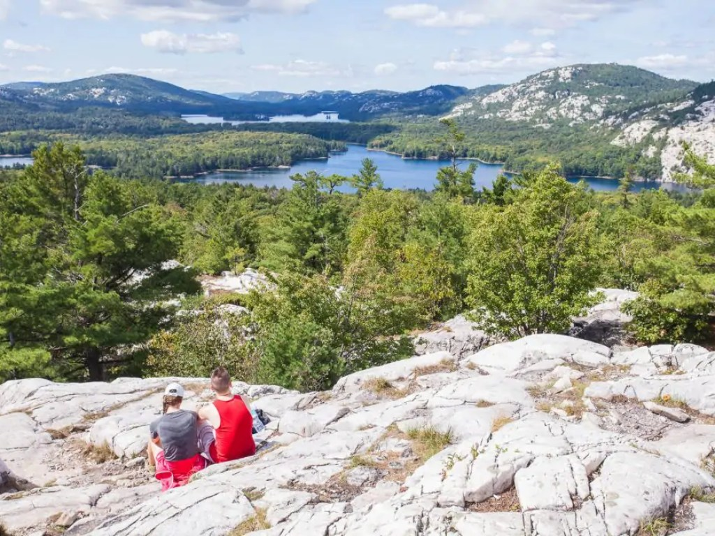 The view from The Crack at Killarney Provincial Park
