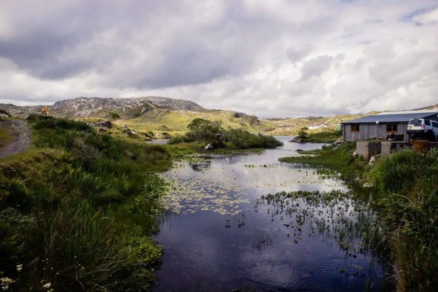 Mountain views in the Bays of Harris.
