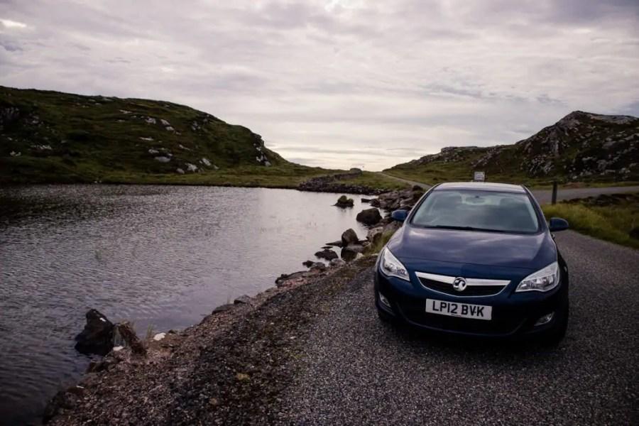 My rental car from Mackinnon Self Drive on the Isle of Lewis