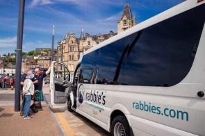 Rabbies tour bus in Oban