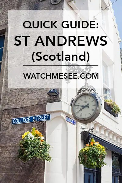 St Andrews is one of Scotland's most beautiful towns. My quick guide to St Andrews gives you an overview of what to see & do, and where to eat & drink.