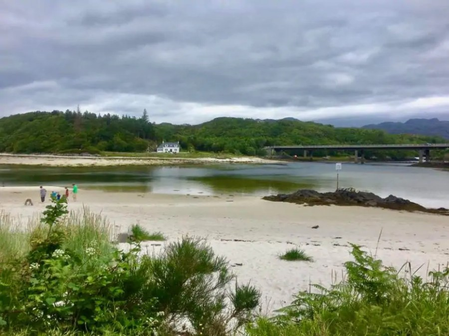 Most people travel along the Road to the Isles by train, but did you know it is one of Scotland's most scenic drives and leads past beautiful beaches like this one?