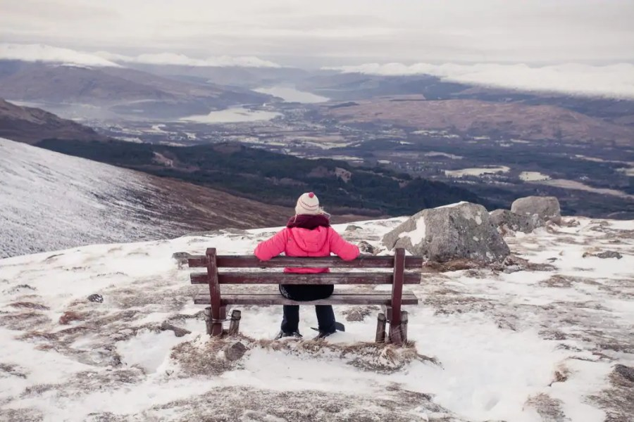 8754518dbd An ice-cold day at the Nevis Range by Fort William - a padded jacket