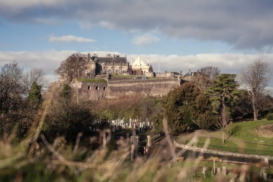 The majestic Stirling Castle in Scotland.