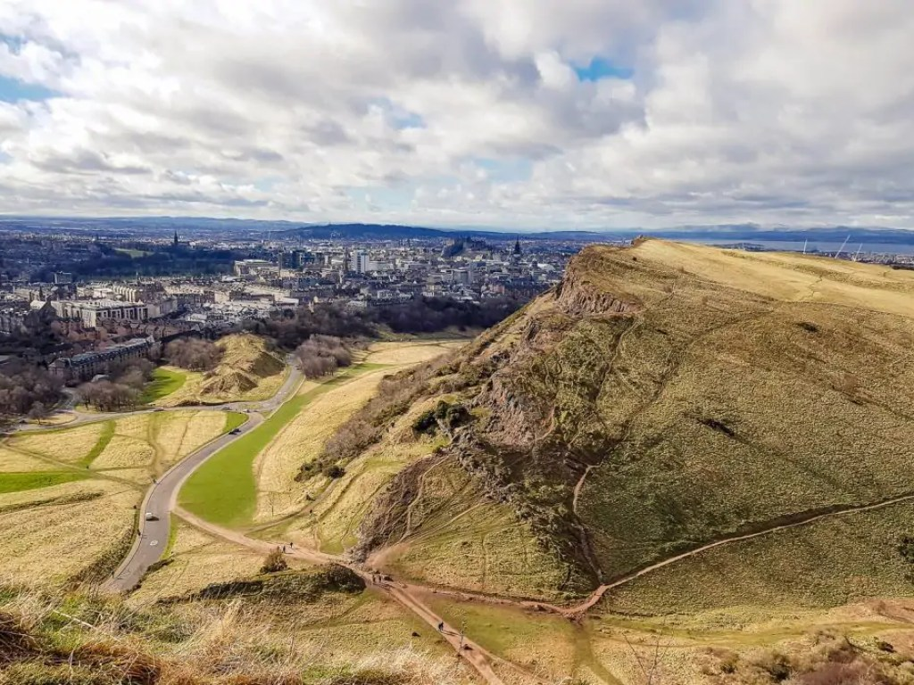 The view over Edinburgh from Arthur Seat