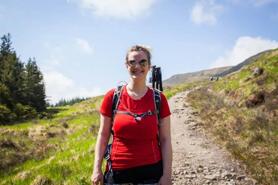b7ea3434efd5 A typical hiking outfit in Scotland includes a breathable top