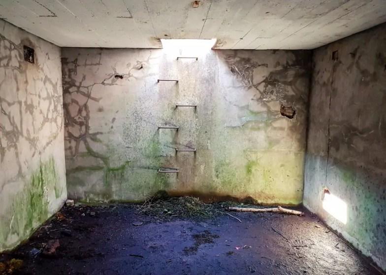 The World War II bunker on the Isle of Bute.