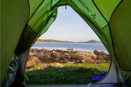 Wild camping in Scotland: Isle of Bute.