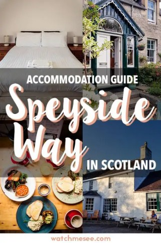 This is a guide to the hotels, B&B, bunkhouses, and hostels we stayed at during our long-distance hike in Scotland - all my favourite Speyside Way accommodation at one glance!