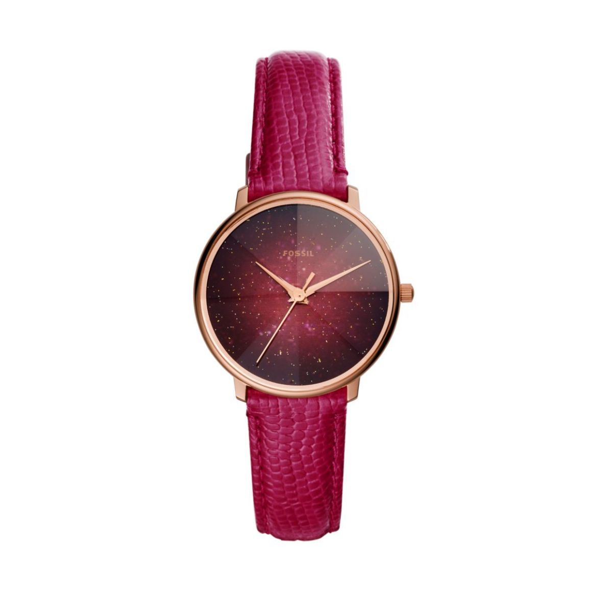 Fossil Women's Prismatic Galaxy Rose Gold Round Leather Watch - ES4731 |  Watch Republic