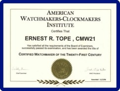 Watch Repair Certificate