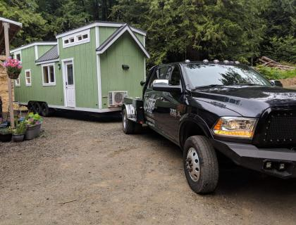 Bumper pull tiny home transportation