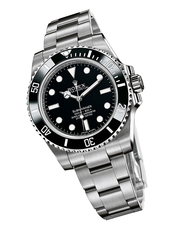 Rolex Oyster Perpetual Submariner 2012 - front angle
