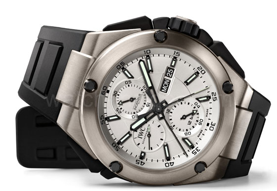 www.watchtime.com | blog  | Watch Insiders Top 10 Chronographs of 2013 | IWC Ingenieur Double Chronograph Titanium