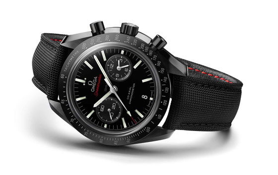 www.watchtime.com | blog  | Watch Insiders Top 10 Chronographs of 2013 | Omega Speedmaster Moonwatch black ceramic white background LG