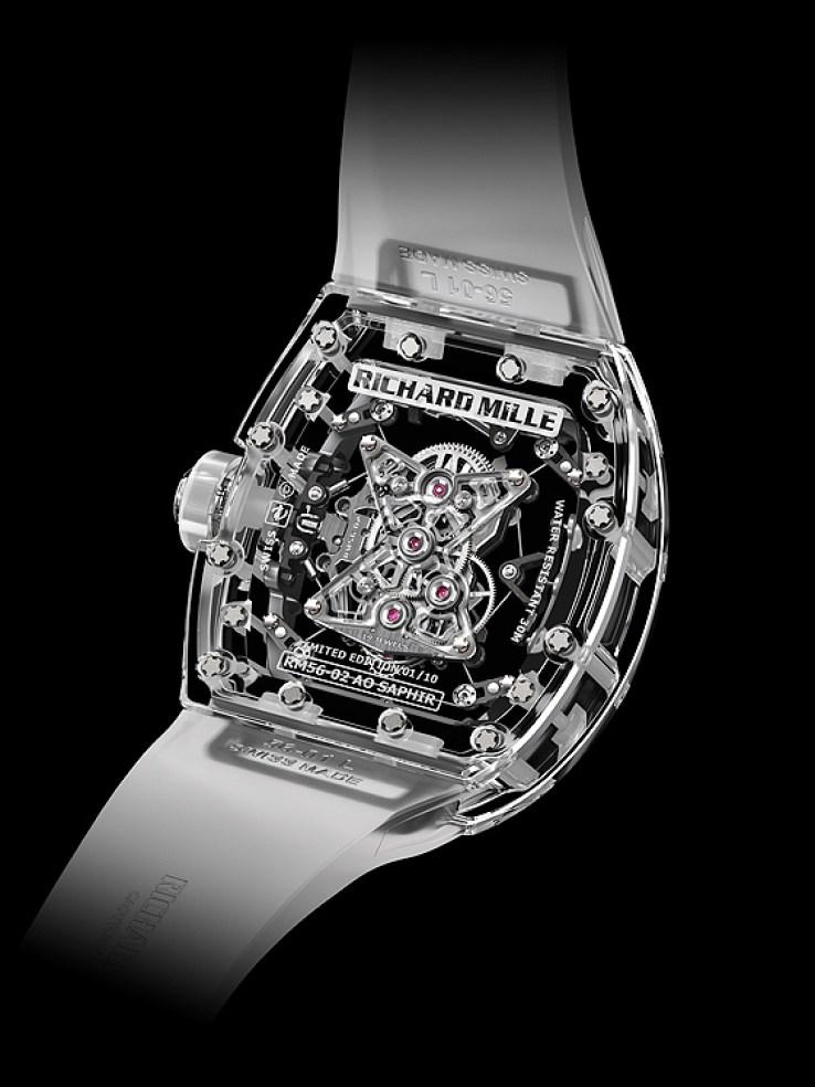 Richard Mille Tourbillon RM 56-02 Sapphire - back