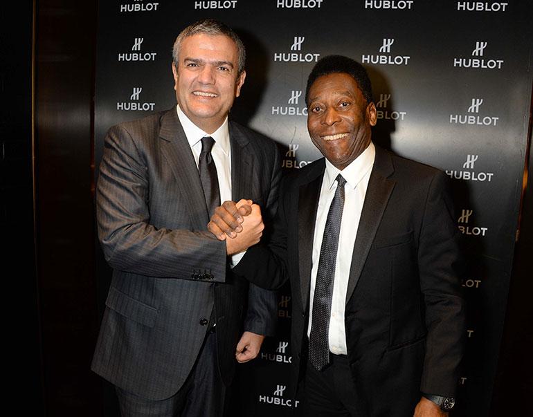 Le roi Pelé nouvel ambassadeur Hublot-WWG