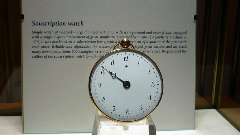 La montre de souscription imaginée par Abraham-Louis Breguet