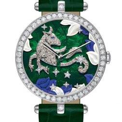 Van Cleef & Arpels montre Lady Arpels Zodiac signe Taureau