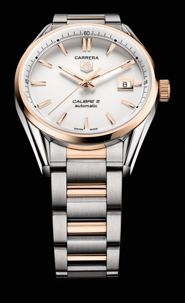 TAG Heuer Carrera Calibre 5 Automatic – 39mm – Steel and Rose Gold