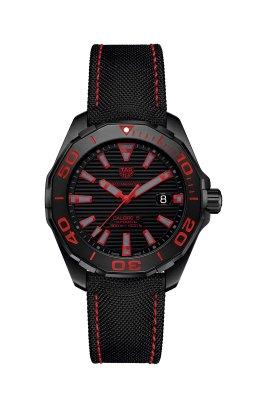 Tag Heuer Aquaracer 300M Black Titanium rouge