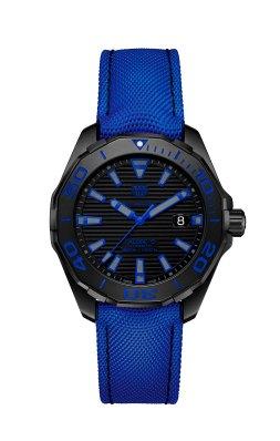 Tag Heuer Aquaracer 300M Black Titanium bleu