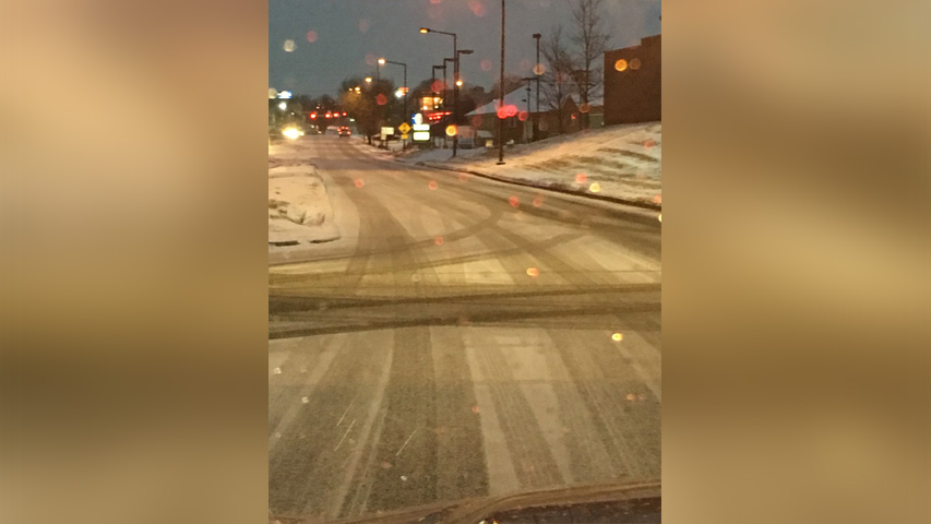 Winter weather impacts road conditions
