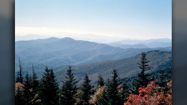 View from Clingman's Dome in Great Smoky Mountains National Park