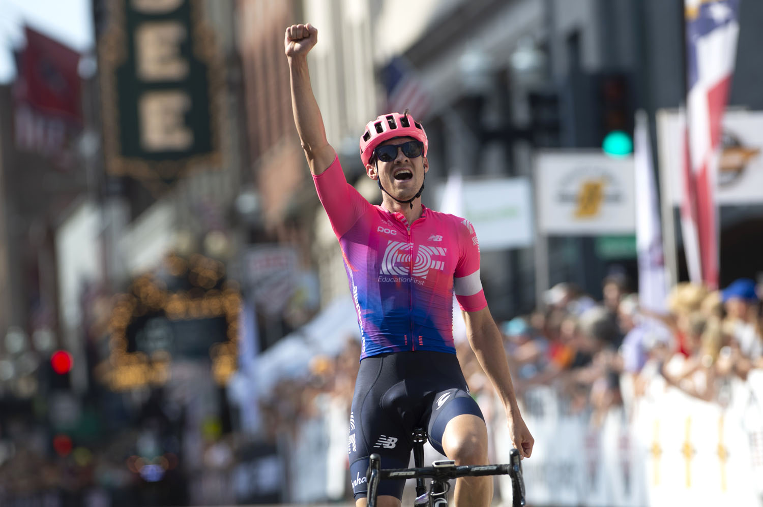 Alex Howes of Boulder, Colo. and EF Education First won the 2019 USA Pro Road National Championship on Sunday, June 20, 2019, in Knoxville, Tenn. (Photo courtesy USA Cycling)