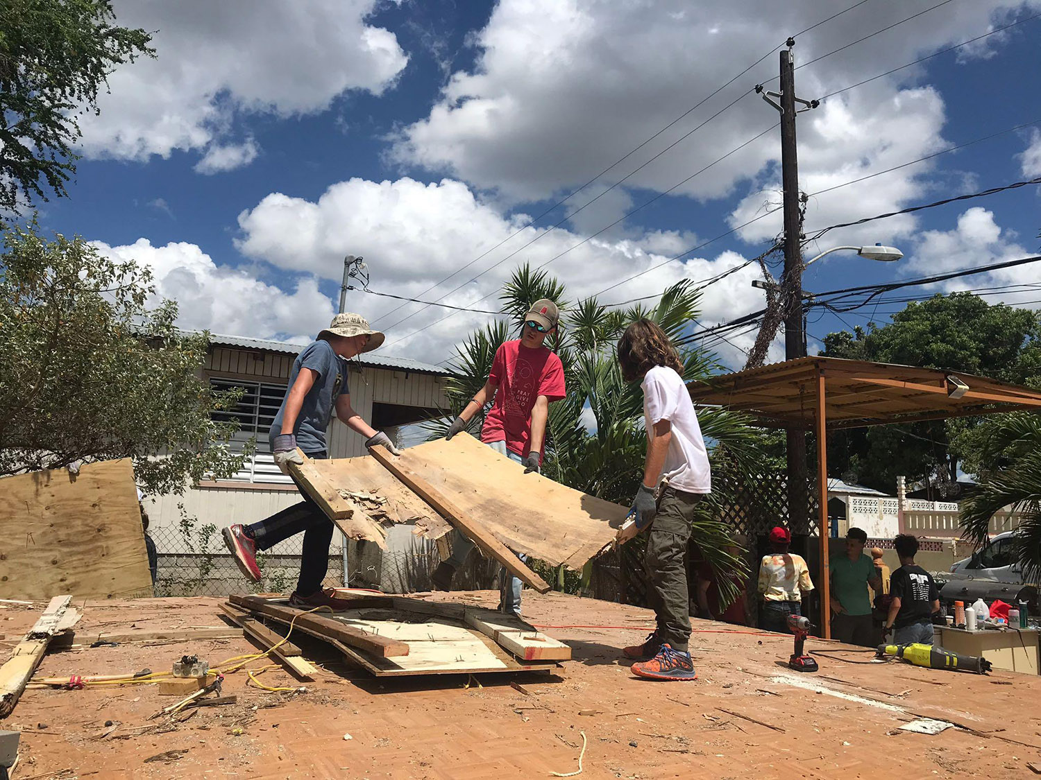 A youth group from Central Baptist Church in Fountain City is helping rebuild homes in Puerto Rico. (Linda Nguyen Skoglund, special to WATE)