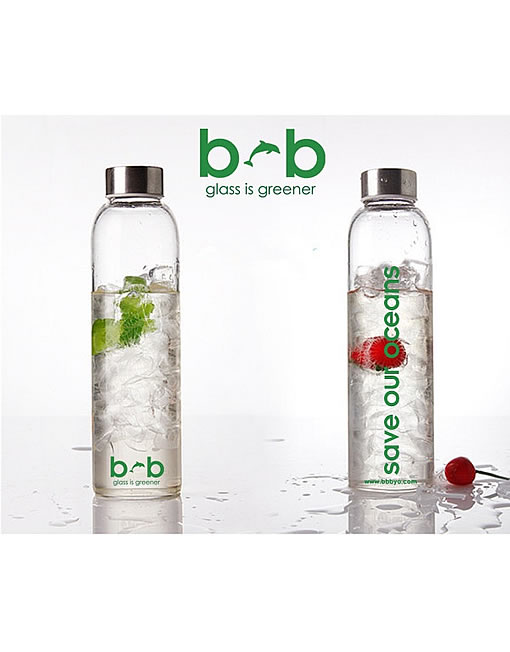 Beautiful Beaches Glass is Greener Bottle & Cover Combo 750ml - Basslet