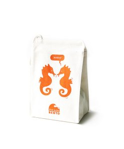 ECOlunchbox Blue Water Bento Lunchbag - Orange Seahorse