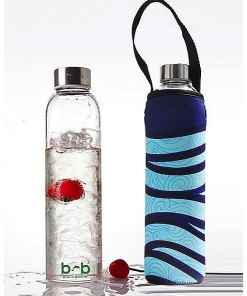 Beautiful Beaches Glass is Greener Bottle & Cover Combo 750ml – Deep Sea