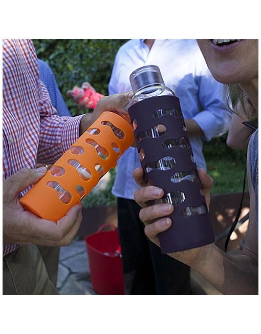 591ml Glass Drink Bottle - Eggplant