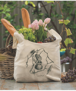 Wild Grey Fox Penguin Produce Bag